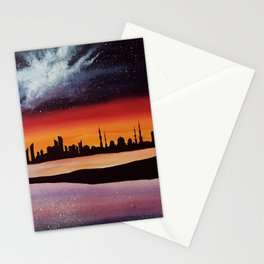 Abu Dhabi, watercolor Stationery Cards