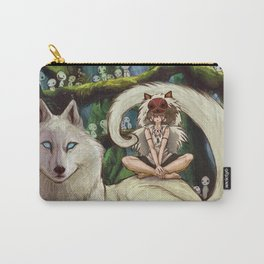 Wolf Princess in the Forest Carry-All Pouch