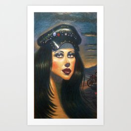 """Biker Girl 2"" Art Print"
