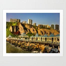 Lima Peru Coastal Scene Photo Art Print