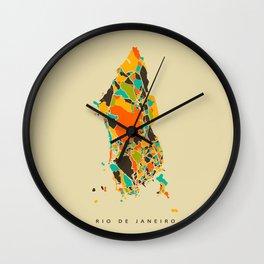 Rio map Wall Clock