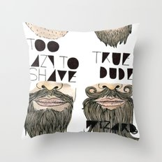 the beard chart of dudeliness Throw Pillow