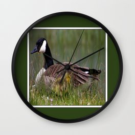 mother and gosling Wall Clock