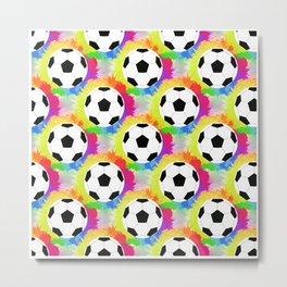 Soccer Pattern | Goal Score Stadium Champion Metal Print