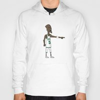 kevin russ Hoodies featuring Kevin Garnett by frappeboy