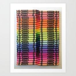 Fitting Colors Art Print