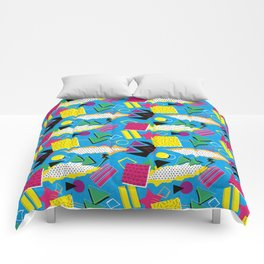 1980s Retro Fashion Print 'Saturday 7am' Comforters