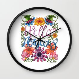 Hello Gorgeous Wall Clock