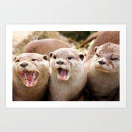 Otter Sequence Art Print
