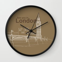 See you in London Wall Clock