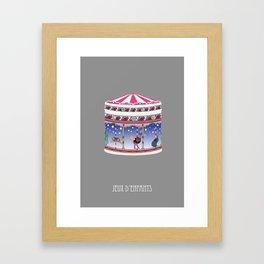 jeux d'enfants Framed Art Print
