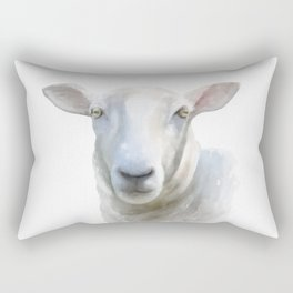 Watercolor Sheep Rectangular Pillow