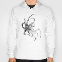 creepy Hoodies featuring Octopus by Alexis Marcou