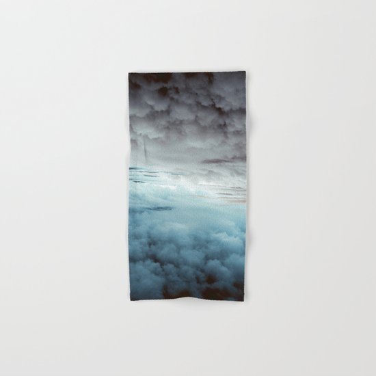 Glacier Painted Clouds  Hand & Bath Towel