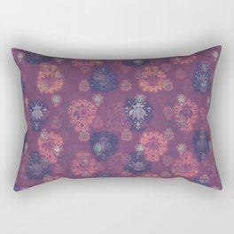 Lotus flower - mulberry woodblock print style pattern Rectangular Pillow