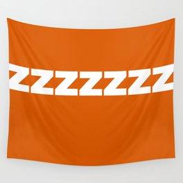ZZZZZZ on Red Orange Wall Tapestry
