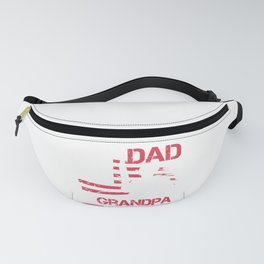 I Am A Dad A Grandpa And A Vietnam Veteran Gift for Grandpas Raglan Baseball design Fanny Pack