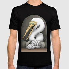 Egret Black Mens Fitted Tee MEDIUM