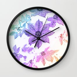 Morning Glory #1 Wall Clock
