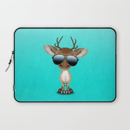 Cute Baby Deer Wearing Sunglasses Laptop Sleeve