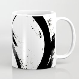 Brushstroke 7: a minimal, abstract, black and white piece Coffee Mug