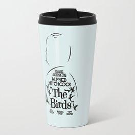 The Birds, Alfred Hitchcock, alternative movie poster, minimal playbill, Tippi Hedren, horror film Travel Mug