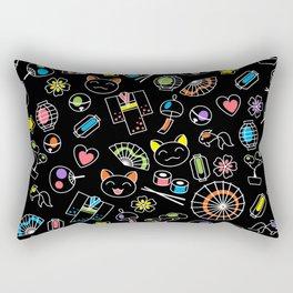Kawaii Doodles Rectangular Pillow