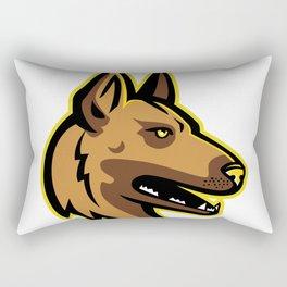 Belgian Malinois Dog Mascot Rectangular Pillow