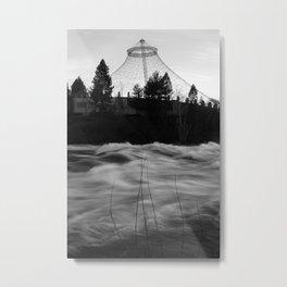 Noiseless Infinity Eddied Metal Print
