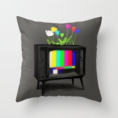 Test Garden Throw Pillow
