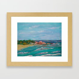 La Punta beach Mexico, Puerto Escondido Framed Art Print