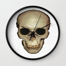 Antique Human Skull Wall Clock