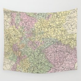 Vintage Map of Germany (1853)  Wall Tapestry