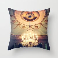 chandelier Throw Pillows featuring Chandelier by elle moss