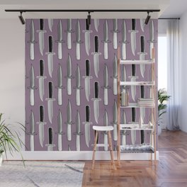 Double Knives in Mauve Wall Mural