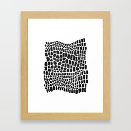 black and white snakeskin Framed Art Print