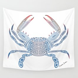 Tribal Blue Crab Wall Tapestry