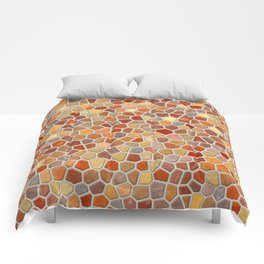 Fall Colors Mosaic Pattern - light Comforters
