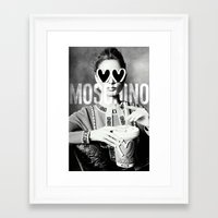 moschino Framed Art Prints featuring Moschino Glasses by Claudio Velázquez