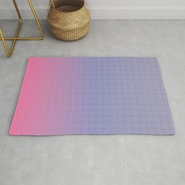 Pink and Purple Pastel Grid Aesthetic Fade Rug