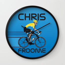 Chris Froome Yellow Jersey Wall Clock