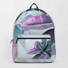 Violet Tropical Plant Backpack