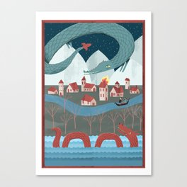 Mythical Monsters Canvas Print