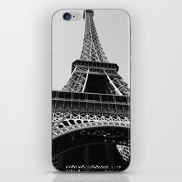 Eiffel Tower // Looking up at the World's Most Famous Monument in Paris France Classic Photograph iPhone Skin