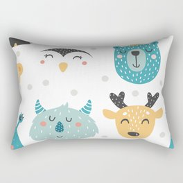 Baby Animals - Fantasy and Woodland Creatures Pattern Rectangular Pillow