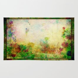 Ginkelmier Land ~ Watercolor Fairy Garden Rug