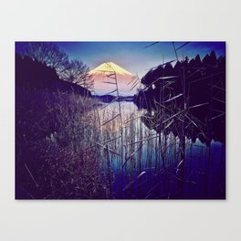 The Red in Deep Blue Canvas Print