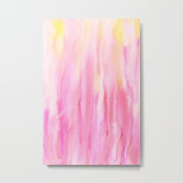 Watercolor Abstract Pink Pattern Metal Print