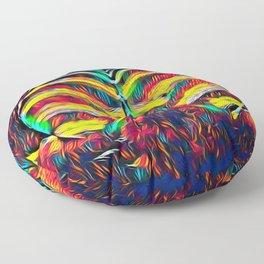 1349s-MAK Abstract Pop Color Erotica Explicit Psychedelic Yoni Buns Floor Pillow