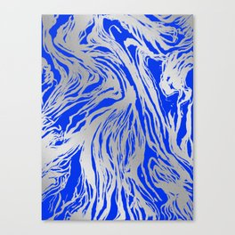 Marbled Blue Canvas Print